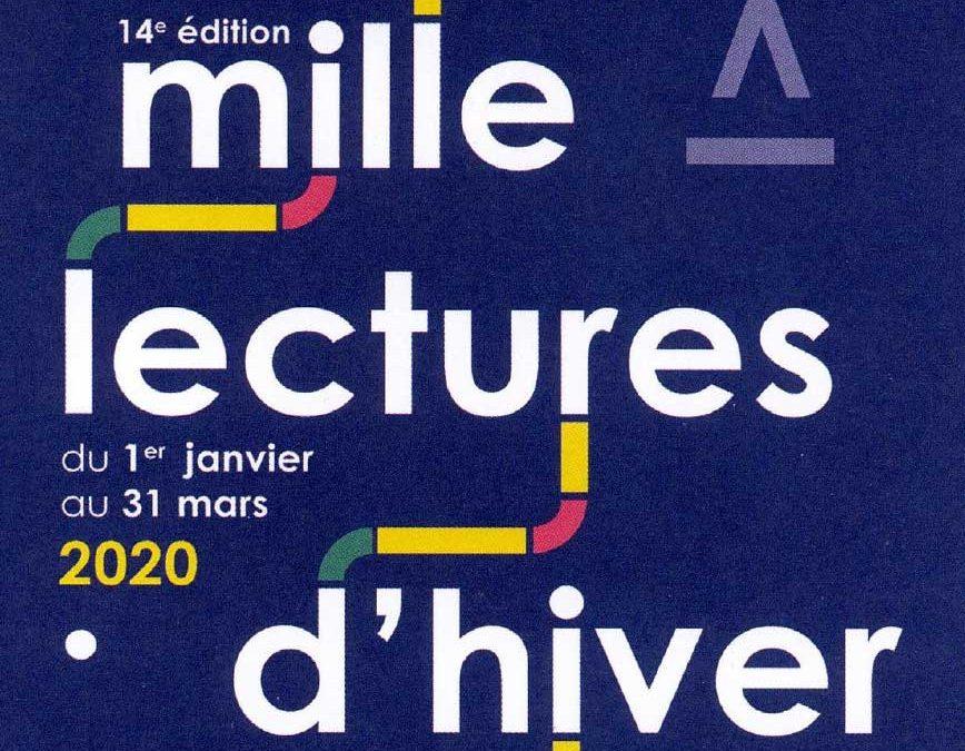 24 janvier 2020 : Mille lectures d'hiver