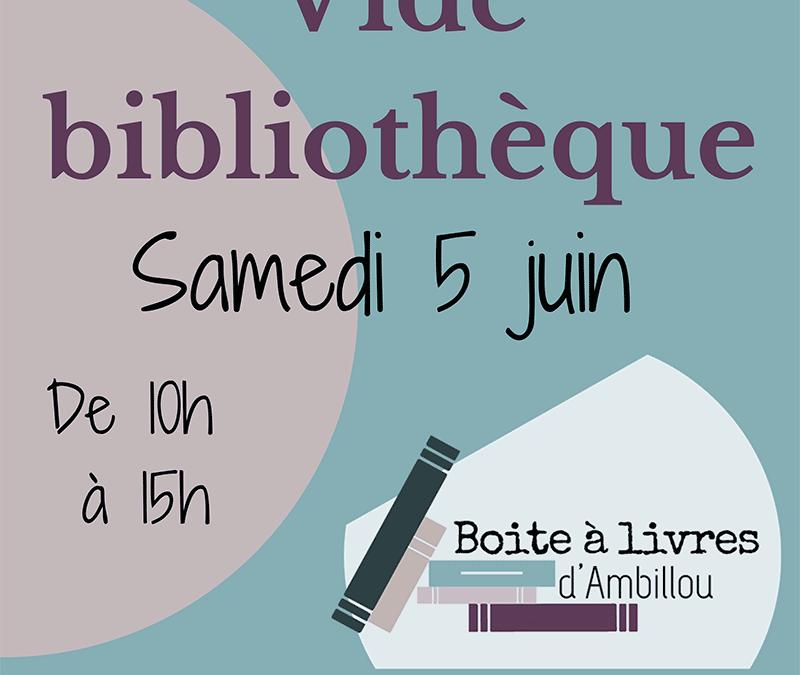 5 juin 2021 : Vide-bibliothèque à Ambillou